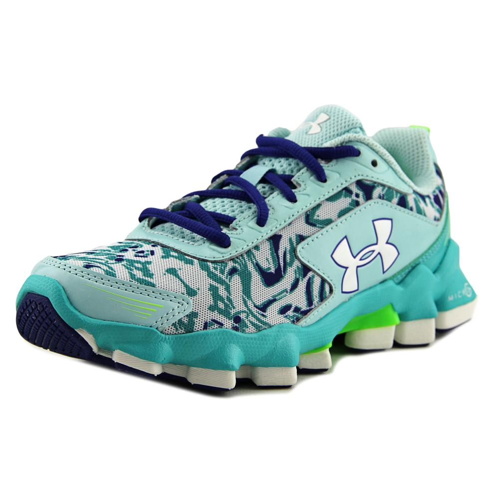 Under Armour GGS Micro G Nitrous Youth Round Toe Synthetic Blue Running Shoe