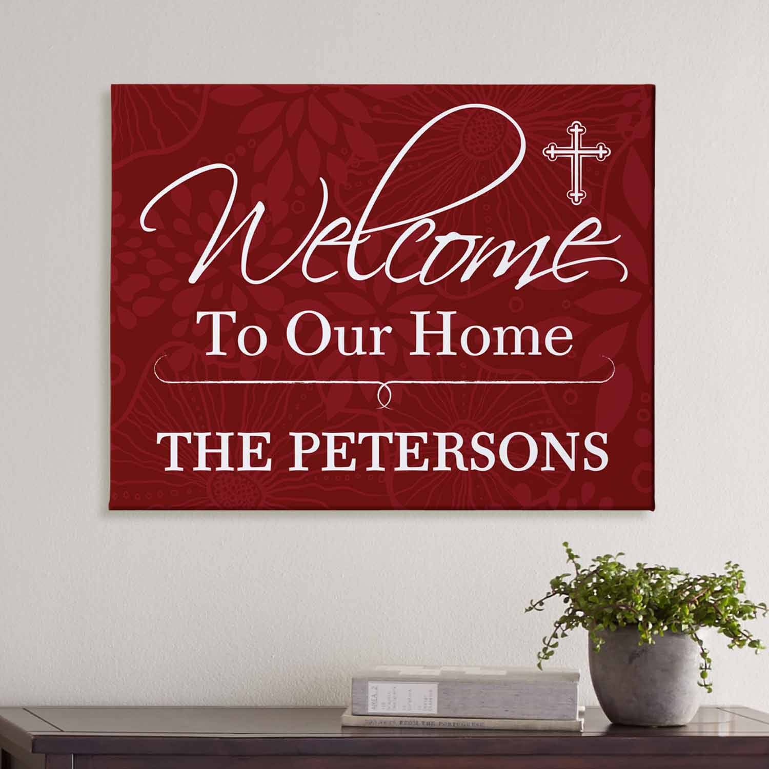 "Personalized Welcome to Our Home-Design Your Own Canvas, 11"" x 14"""