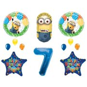 7th DESPICABLE ME MINIONS Happy Birthday PARTY Balloons Decorations Supplies