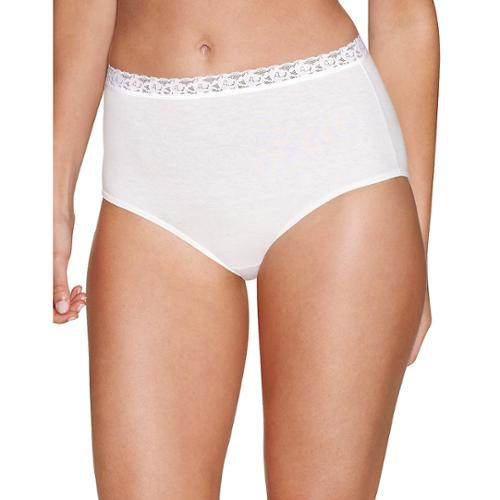 Hanes Womens 5-Pack Cotton with Lace Brief Panty 10 Assorted