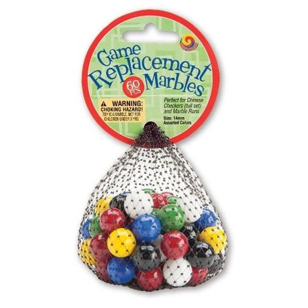 14mm Game Replacement Marbles - 60 Piece14mm - Perfect for Chinese Checkers as well as other games and marble runs that utilize marbles By Mega - Amaze N Marbles