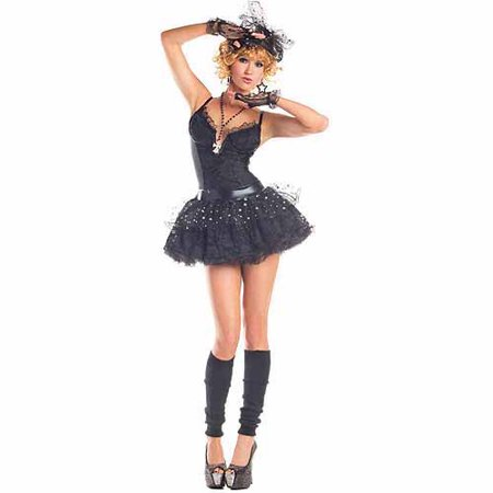 Material Pop Star Adult Halloween Costume (80s Pop Culture Halloween Costumes)