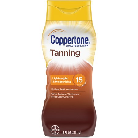Coppertone Tanning Defend & Glow Sunscreen Vitamin E Lotion, SPF 15, (Bronze Tinted Tanning Lotion)