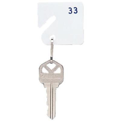 White Slotted Numbered Key Tags, Numbered 81 Through 100 ,20 pack per unit