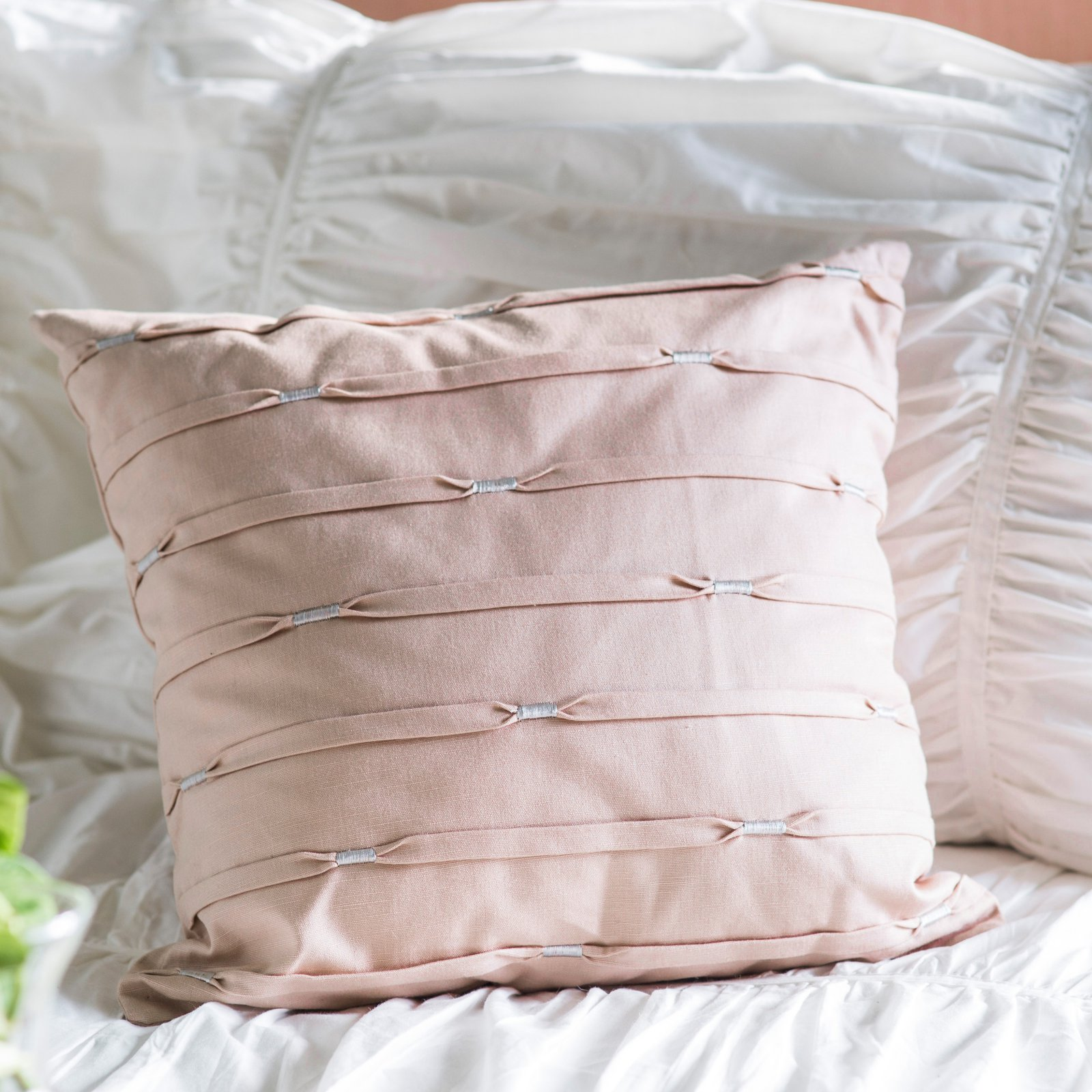 Under the Canopy Goddess Pink Decorative Pillow