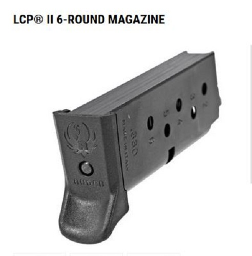 Factory Original Ruger LCP II - 6 Round Magazine - Fits the NEW LCP II (2)