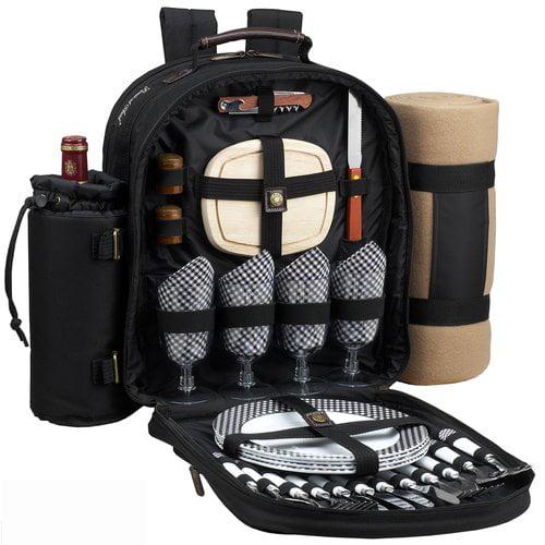 Picnic At Ascot Trellis Backpack Picnic Cooler