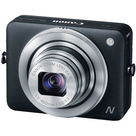 Canon Black PowerShot N 8230B001 Digital Camera with 12.1 Megapixels and 8x Optical Zoom