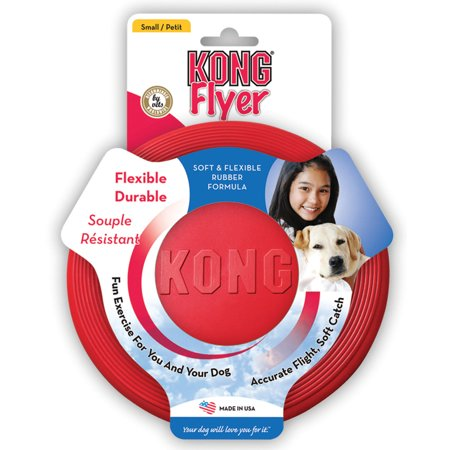 - KONG Rubber Flyer Dog Toy, Small