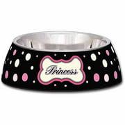Loving Pets Milano Small Dog Bowl, Princess Polka Dot