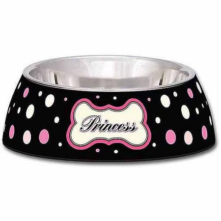 Loving Pets Milano Small Dog Bowl Princess Polka Dot