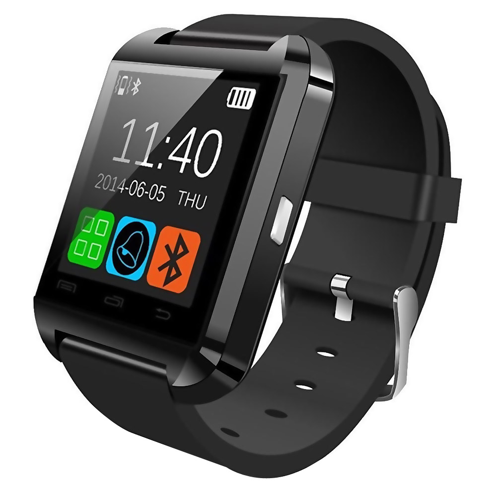 MyePads Bluetooth Smart Watch for Android Smartphones Black by Worryfree Gadgets