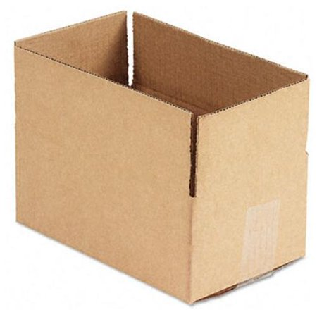 general supply brown corrugated fixed depth shipping boxes 10l x 6 w x 4 h 25 bundle. Black Bedroom Furniture Sets. Home Design Ideas