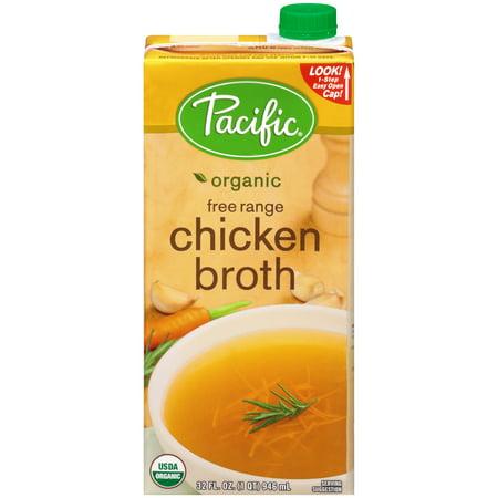 (2 Pack) Pacific Foods Organic Free Range Chicken Broth, (Organic Chicken Free Range)
