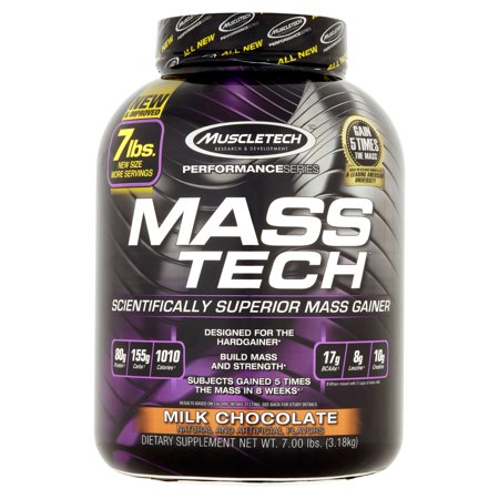 Muscletech Performance Series Mass Tech Advanced Muscle Mass Gainer Milk Chocolate Dietary Supplement Powder  7 05 Lbs