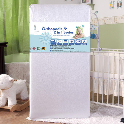 L.A. Baby Latex Layer 2 in 1 Crib Mattress