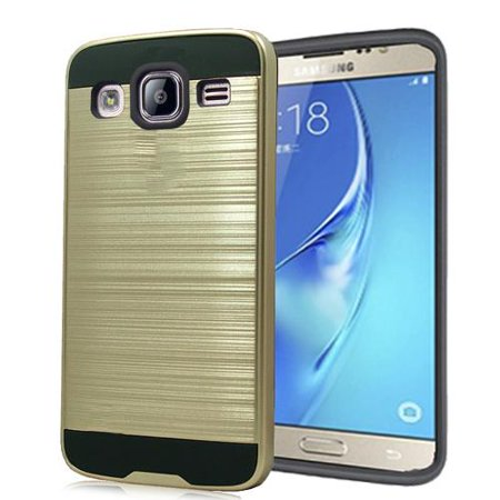 Phone Case for T-Mobile Samsung Galaxy On5 Prepaid smartphone Metallic Brush Finish Cover Case (Gold) - Metallic Sheen Finish