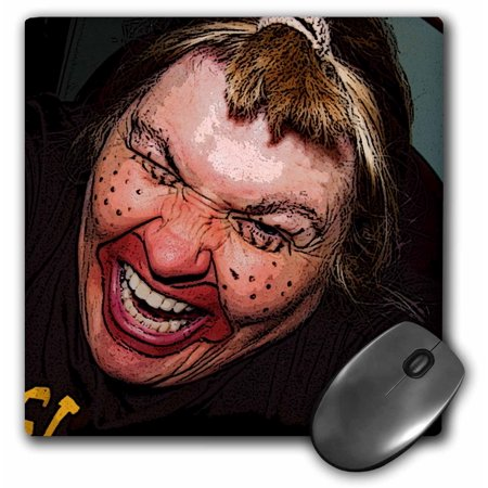 3dRose Lady Dressed Up Like Ugly Clown for Halloween With Her Face Very Animated, Silly and Scary, Mouse Pad, 8 by 8 inches for $<!---->