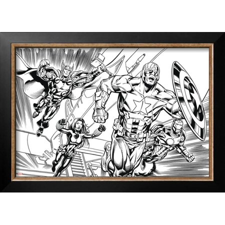 Avengers Assemble Inks Featuring Iron Man, Captain America, Thor ...