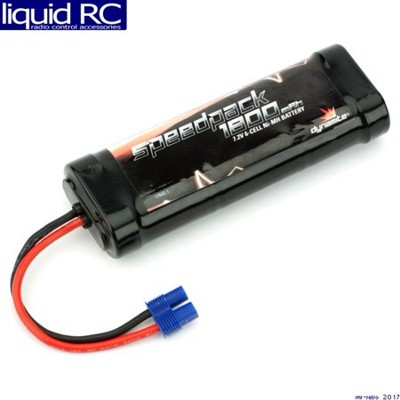 Nimh 6 Cell Flat (Dynamite Speedpack  6-Cell Ni-MH Flat Battery Pack w/EC3 (7.2V/1800mAh))