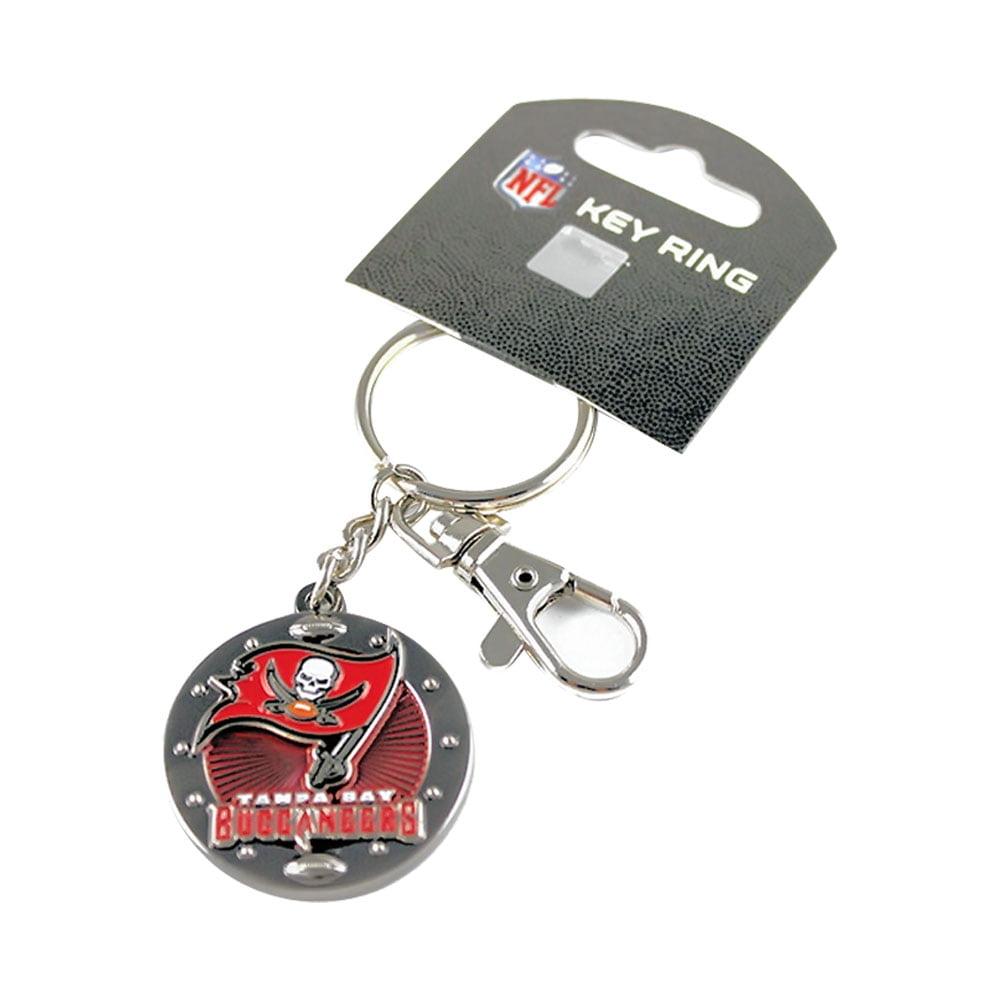 Aminco International NFL Tampa Bay Buccaneers Team Logo Impact Keychain Key Ring Clip