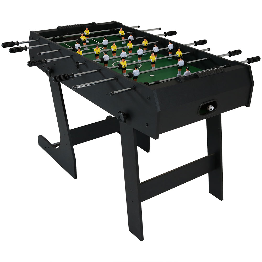Sunnydaze 48 Inch Folding Foosball Table, Sports Arcade Soccer for Indoor Game Room by Sunnydaze Decor