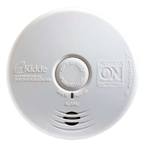 Kidde P3010K-CO Worry-Free Kitchen Photoelectric Smoke and Carbon Monoxide Alarm with 10 Year Sealed Battery (2 Pack)
