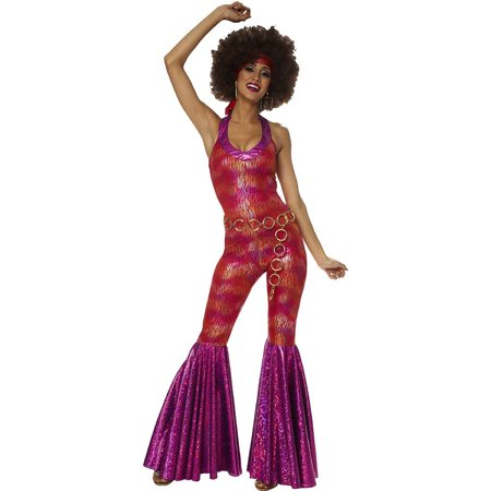 Womens 70's Foxy Disco Jumpsuit Costume Small Size (Foxy Brown 70's Costume)
