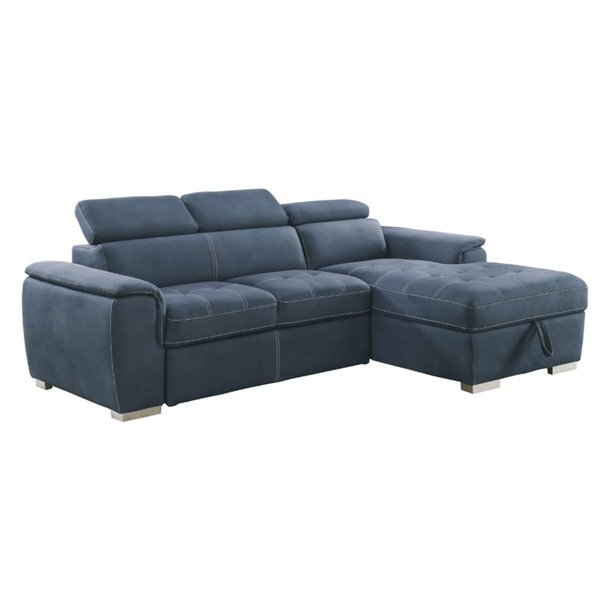 Lexicon Ferriday Microfiber Sectional Sofa with Pull Out ...