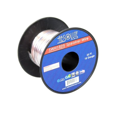 Absolute USA SWH1825 18 Gauge Car Home Audio Speaker Wire Cable Spool