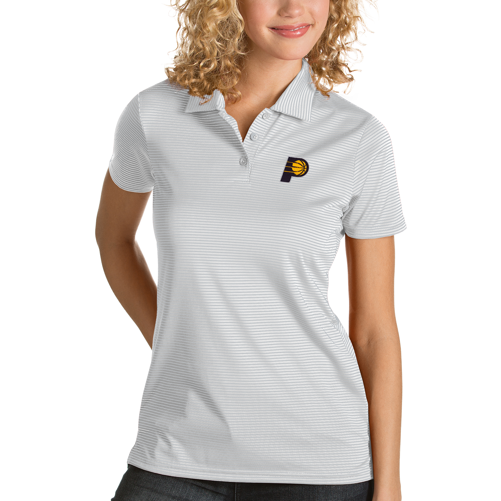 Indiana Pacers Antigua Women's Quest Polo - White