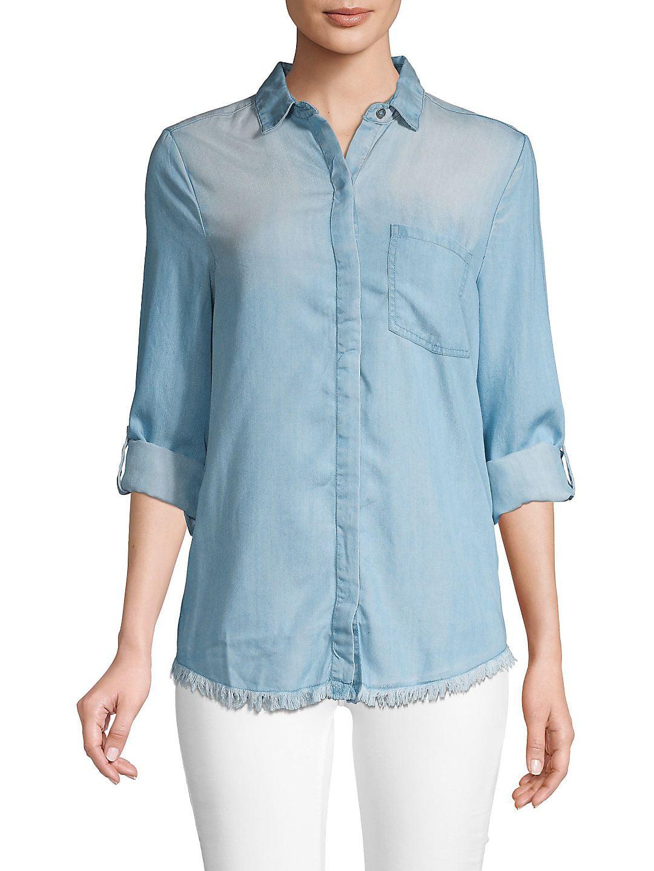 Frayed Button-Down Shirt