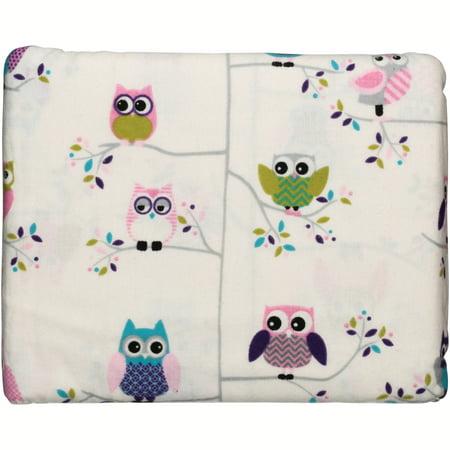Mainstays Ms Flannel Sheet Set Girl Owl Walmart Com