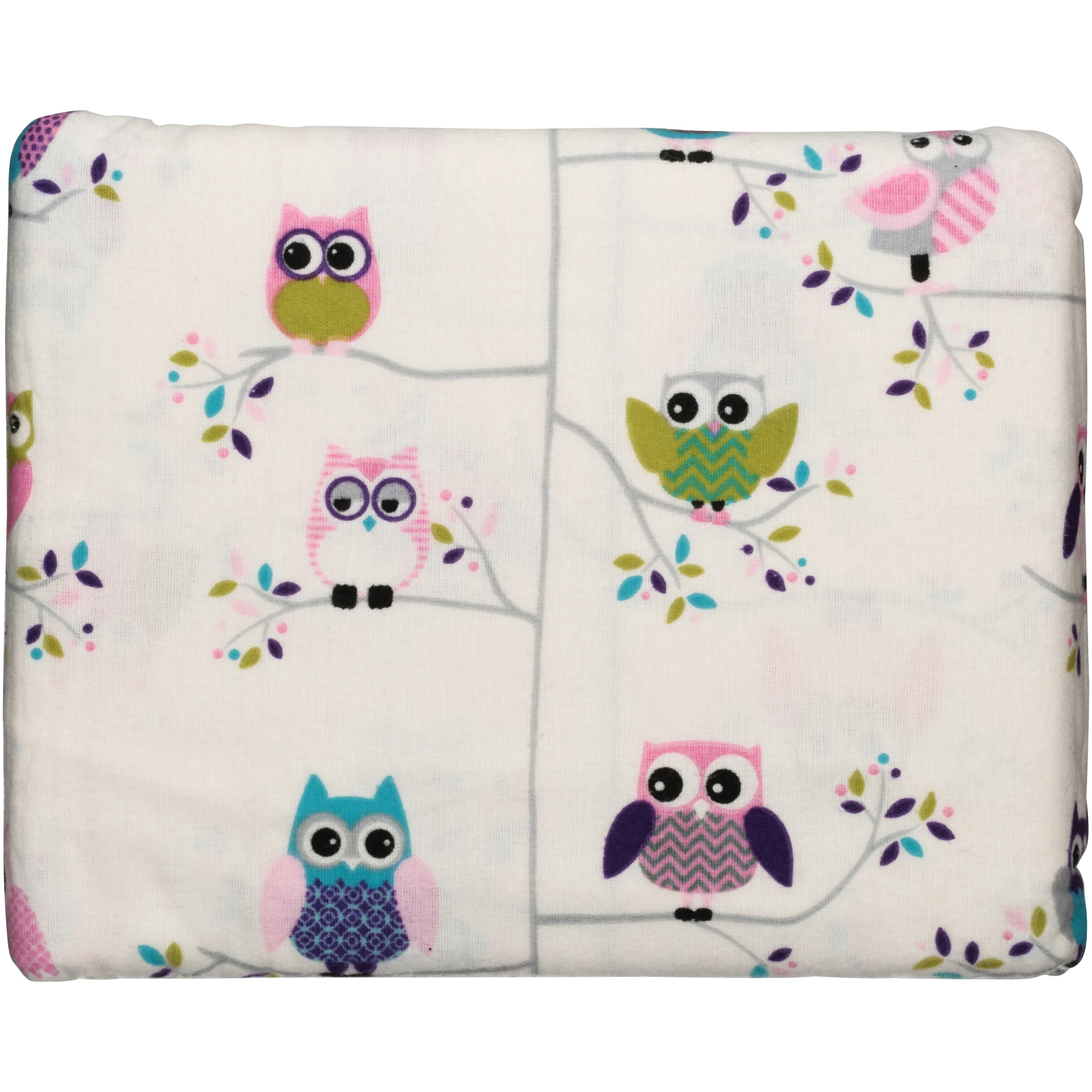 Mainstays Flannel Sheet Set, Owl Print