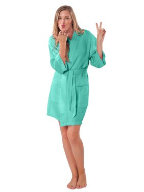 Product Image Lightweight Knee Length Waffle Kimono Bridesmaids Spa Robe  (Small Medium 190d9ddc3