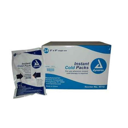 Dynarex 922-00470CS24 Dynarex Instant Ice Pack, 5 x 9 in. - Case of 24
