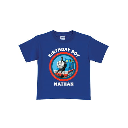 Personalized Thomas Friends Blue Birthday Toddler Boy T Shirt