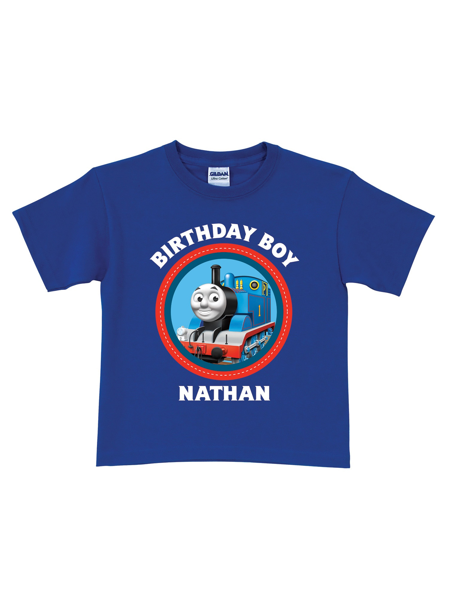 Personalized Thomas & Friends Blue Birthday Toddler Boy T-Shirt - 2T, 3T, 4T, 5/6T