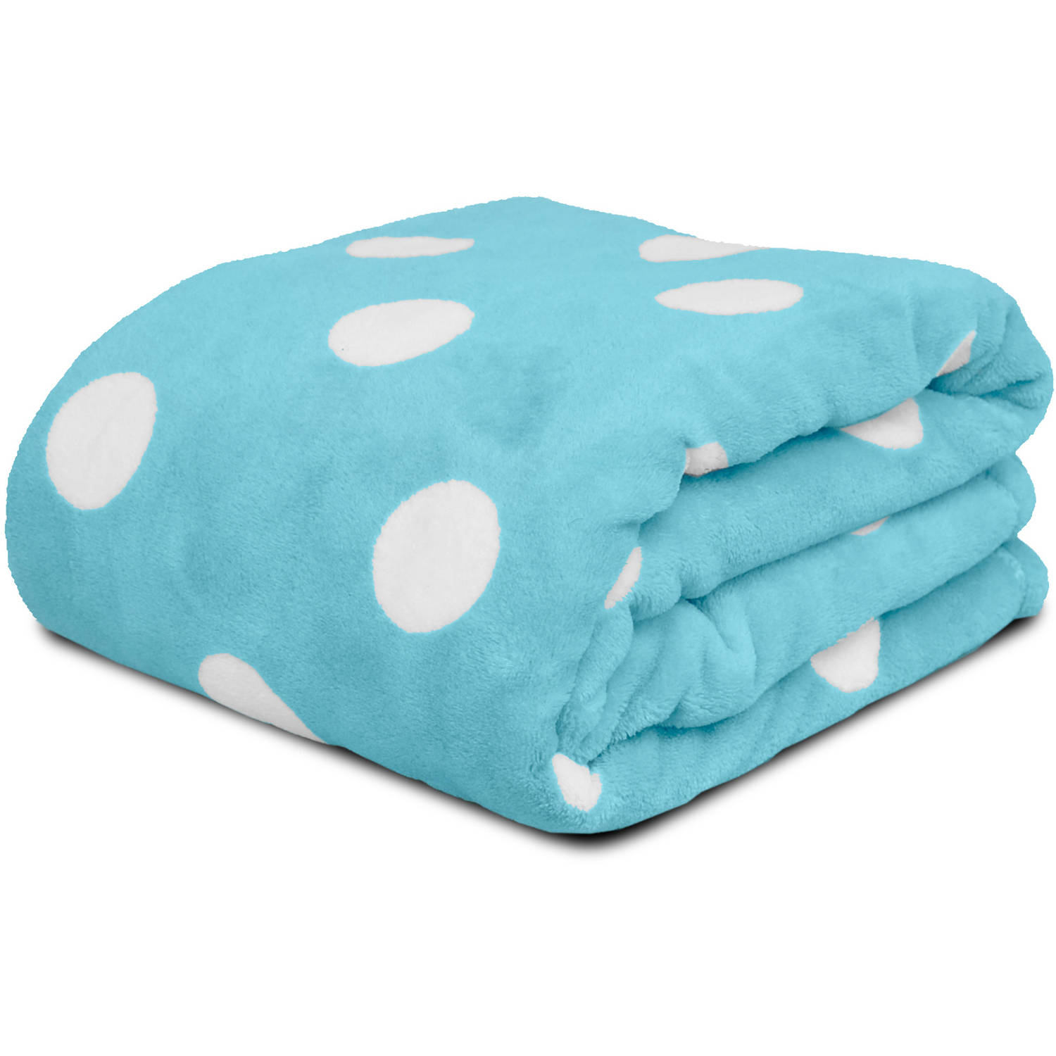 Mainstays Kids Polka Dot Plush Throw