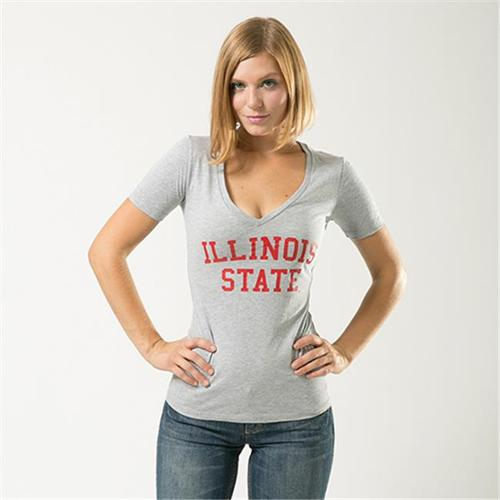 Illinois State Redbirds Womens Game Day T-Shirt (Gray)