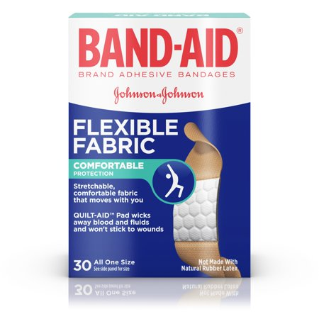 BAND-AID ® Brand Flexible Fabric Adhesive Bandages for Wound Care, 30 Count