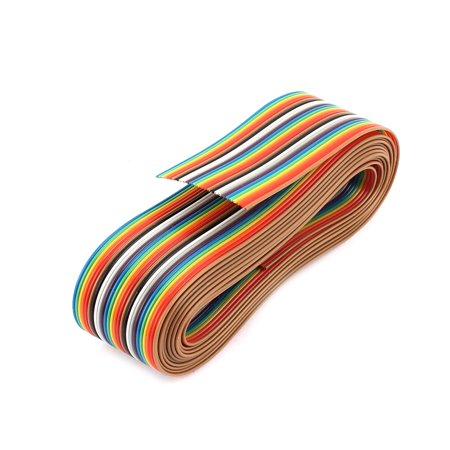 2.65M Long 1.27mm Pitch 26P Colorful Connecting Testing Flat Ribbon Wire Cable