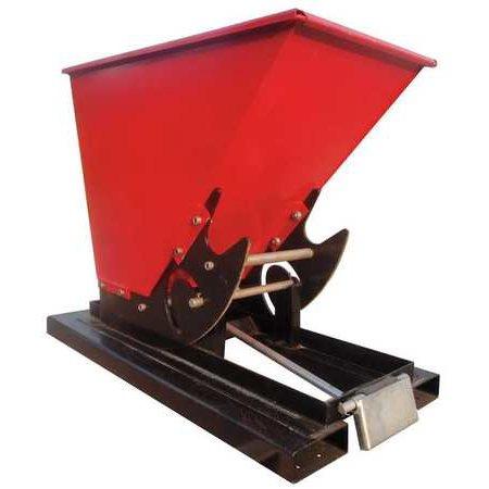DAYTON 5PKG8 Self Dumping Hopper, 1-1/2Cu Yd, 2000 Lb (Dump Hopper)