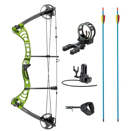 Leader Accessories Compound Bow 30-55lbs Archery Hunting Equipment with Max Speed 296fps
