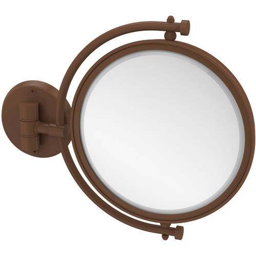 "8"" Wall-Mounted Make-Up Mirror, 4x Magnification"