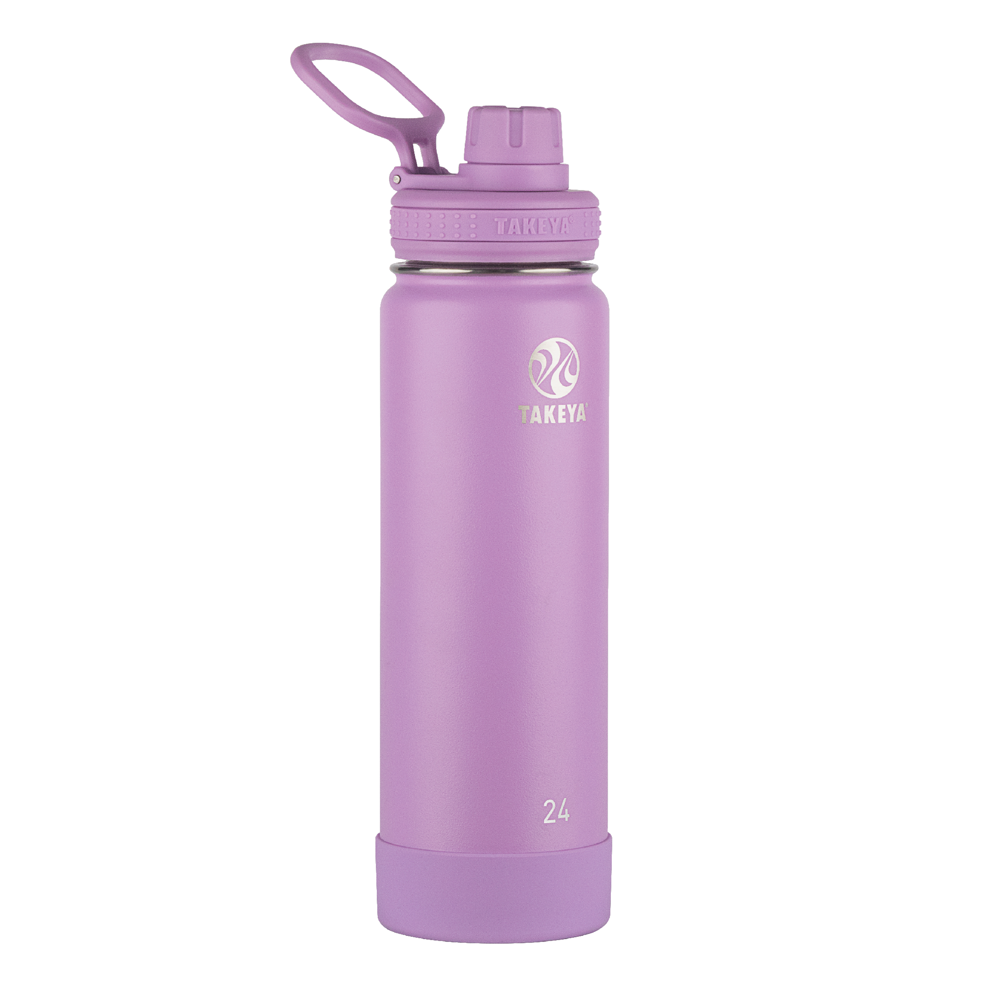 Takeya Actives Stainless Steel Water Bottle w/Spout lid, 24oz Lilac