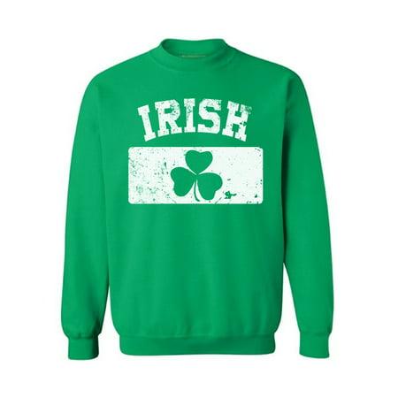 Awkward Styles St. Patrick's Day Irish Sweatshirt Shamrock Flag Men's Sweatshirt St. Patrick's Day Lucky Sweatshirt for Women Irish Gifts Saint Patrick's Day Outfit Shamrock Green Sweatshirt