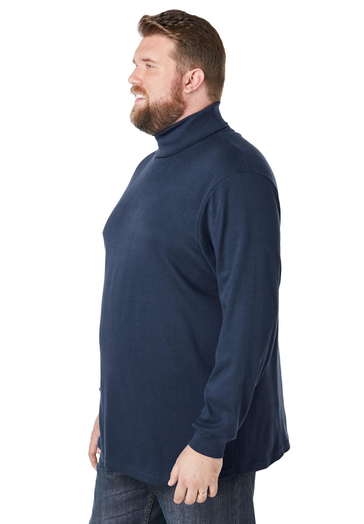 KingSize Mens Big /& Tall Tall Turtleneck Long-Sleeve Tee