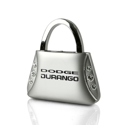 Dodge Durango Clear Crystals Purse Shape Auto Key Chain
