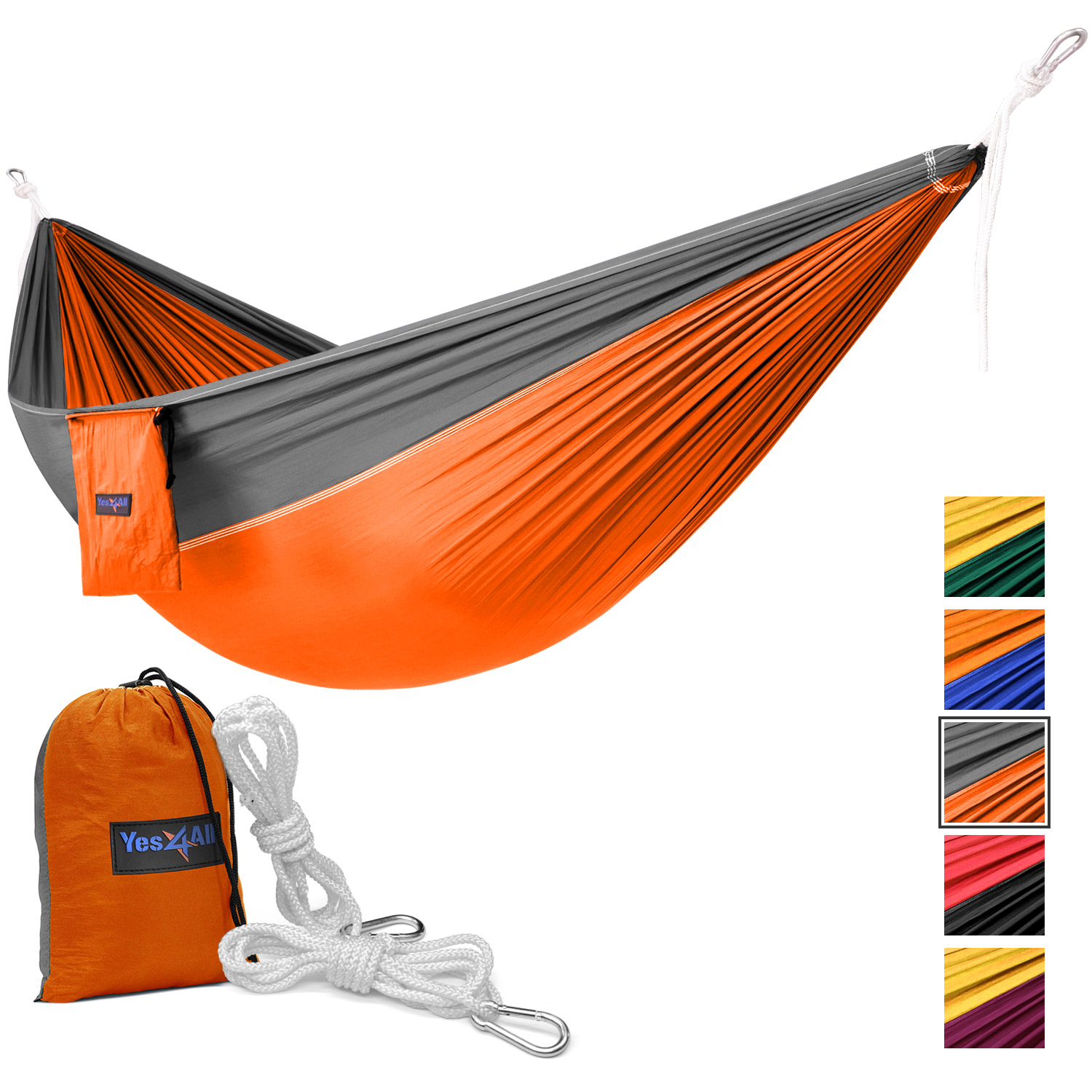 Yes4All Lightweight Double Camping Hammock with Carry Bag